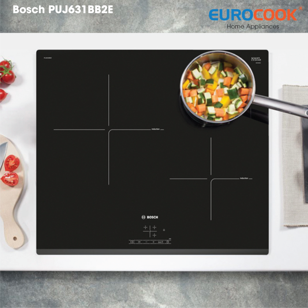 PUJ631BB2E - Bếp điện từ Bosch sở hữu thiết kế đẹp
