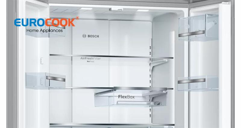 Tủ lạnh cửa dưới kiểu Pháp Bosch KFN86AA76J