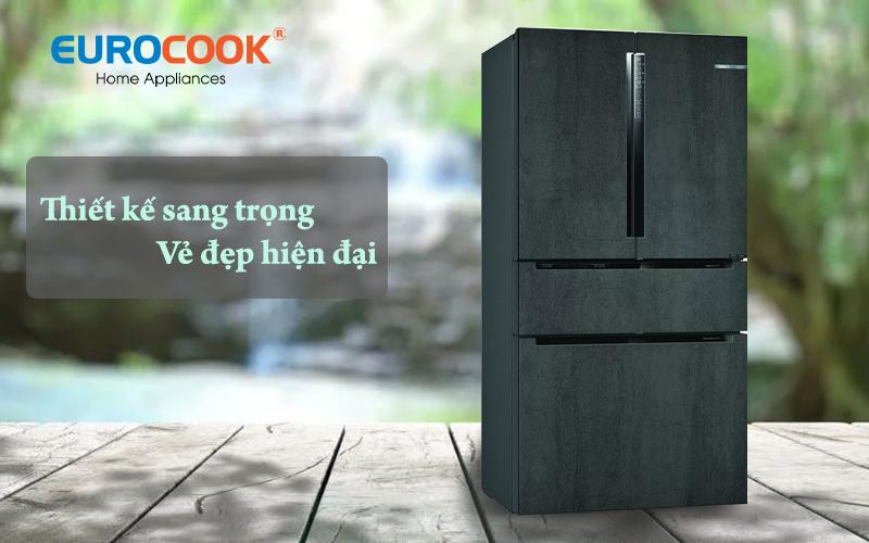 Tủ lạnh 4 cửa kiểu Pháp KFN96PX91I