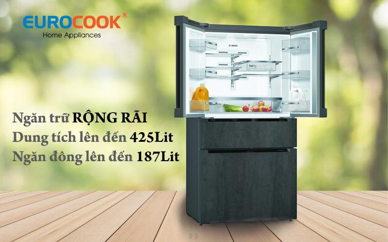 Tủ lạnh 4 cửa kiểu Pháp KFN96PX91I || Serie 8